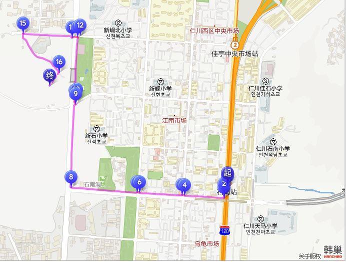 SK石油化學櫻花公園中文地圖
