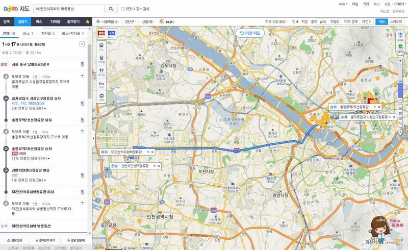 SK石油化學櫻花公園公車地圖交通路線