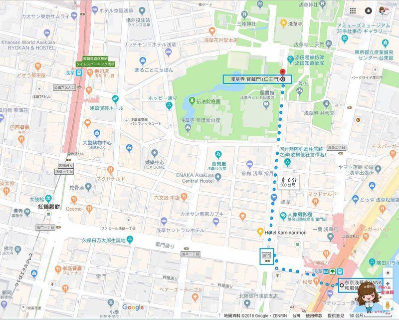 東京和服體驗 淺草HAHA和服體驗地圖交通路線