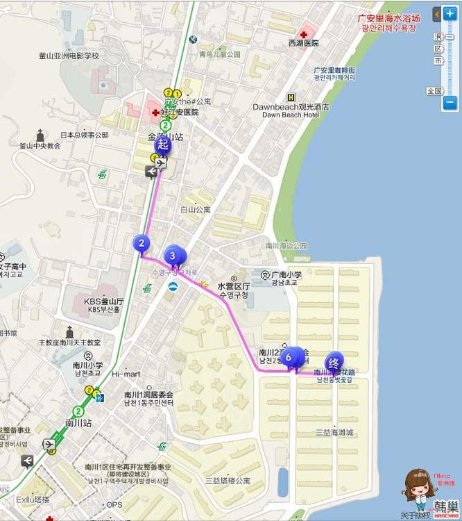 南川洞櫻花路 地圖交通路線