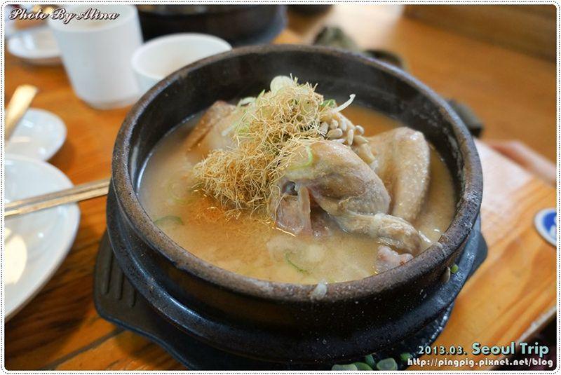 【首爾自由行】景福宮 土俗村蔘雞湯-整整一隻雞躺在鍋裡的韓國美食 @Alina 愛琳娜 嗑美食瘋旅遊