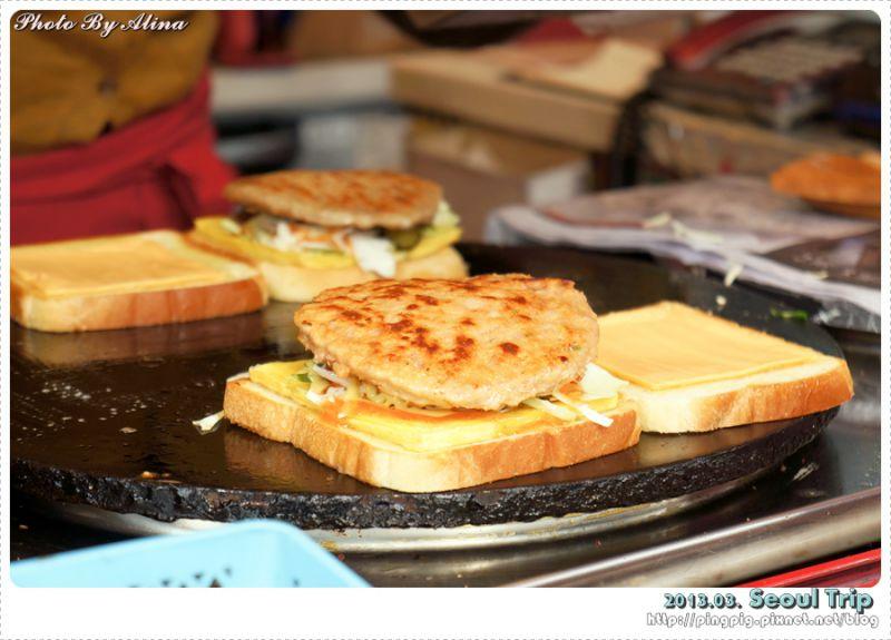 【首爾美食】明洞站-超美味的 ISAAC吐司 還有親切的阿珠嬤 @Alina 愛琳娜 嗑美食瘋旅遊