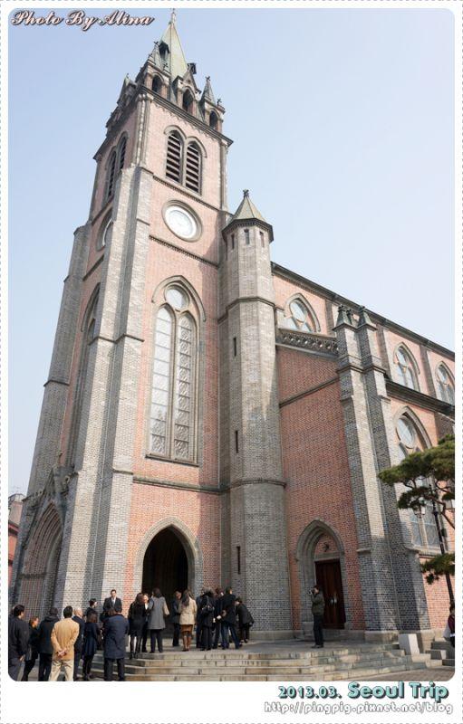 【首爾景點推薦】韓國首爾明洞站 明洞聖堂 不管哪個角度拍都好看 @Alina 愛琳娜 嗑美食瘋旅遊
