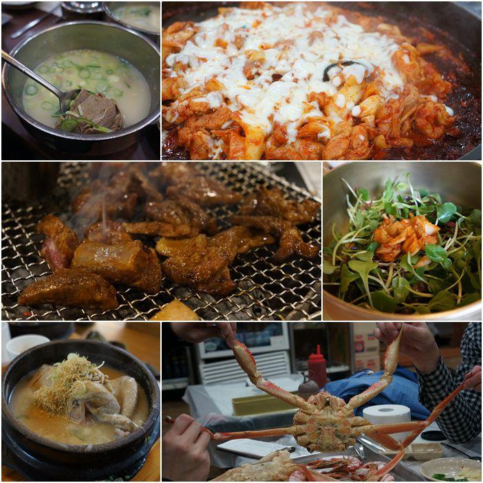 [ 首爾自由行 ] 韓國料理正餐。美食TOP6:烤肉、拌飯、辣炒雞排、牛骨湯、長腳蟹、人蔘雞