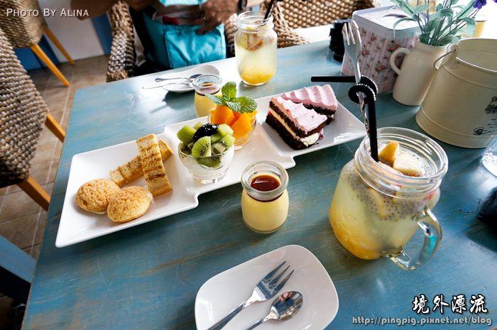 [ 花蓮民宿 ] 境外漂流 – 藍白色地中海 希臘風格民 宿提供超豐富下午茶 (餐點篇) @Alina 愛琳娜 嗑美食瘋旅遊