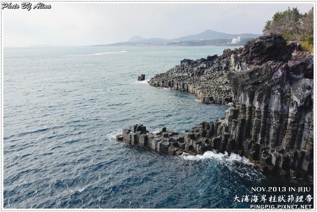 [ 濟州島自由行 ] 西歸浦 中文觀光區 大浦海岸柱狀節理帶 주상절리대