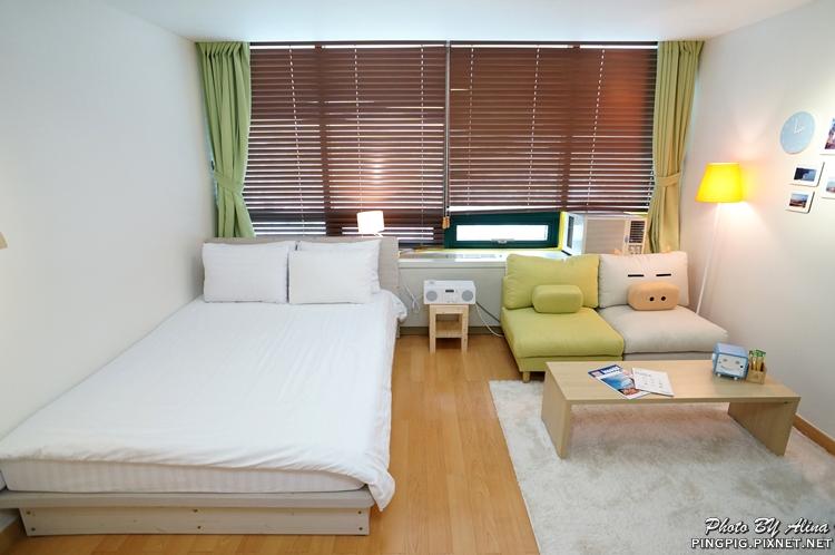 【韓國首爾自由行】239弘大pigfly豬飛民宿 距離逛街區超近的大空間中價位公寓式酒店 @Alina 愛琳娜 嗑美食瘋旅遊