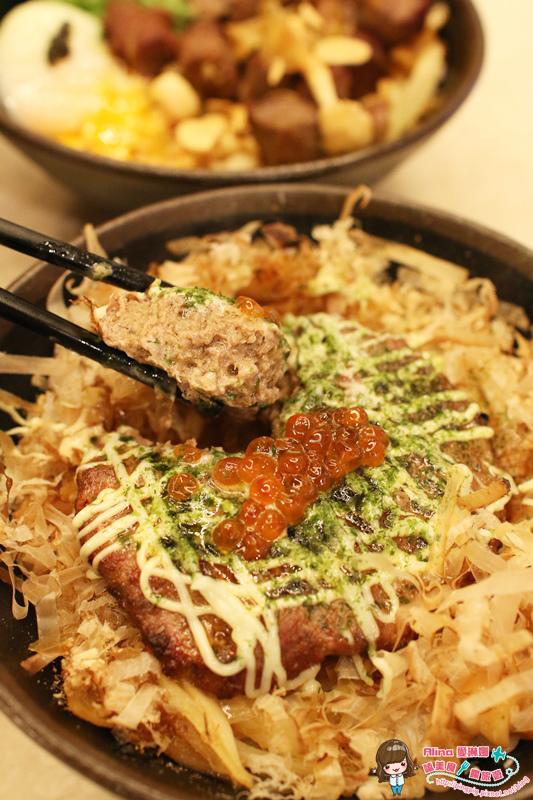 【食記】台北東區 開丼燒肉VS丼飯 開動啦! 大阪漢堡丼就在 微風廣場美食街 @Alina 愛琳娜 嗑美食瘋旅遊