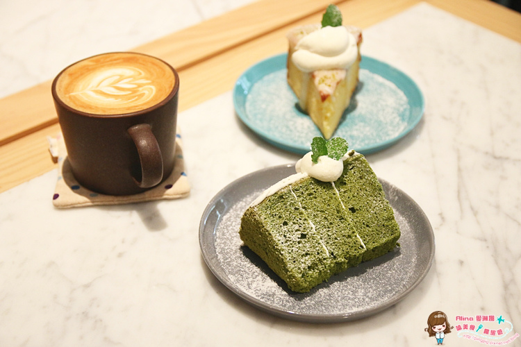 【食記】台北 六張犁 米販咖啡 北歐木頭極簡風下午茶 鬆軟抹茶戚風與檸檬蛋糕的愜意時光