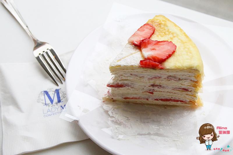 已歇業【首爾自由行】630梨泰院 LADY M 레이디엠 草莓抹茶千層蛋糕 來自紐約的超夯人氣甜點 @Alina 愛琳娜 嗑美食瘋旅遊