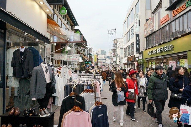 韓國首爾購物 弘大停車場街