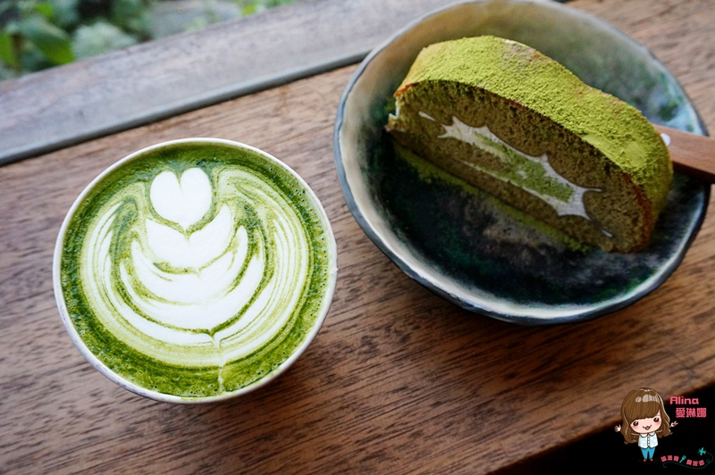 【食記】花蓮市 咖啡花 Caffe Fiore 老木屋文青咖啡館 抹茶捲起來 大人味提拉米蘇 @Alina 愛琳娜 嗑美食瘋旅遊