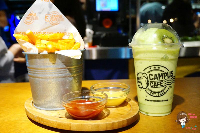 【食記】台北車站 CAMPUS CAFE 平價早午餐 美式運動餐廳 健康木盆沙拉 奇奇異果昔 @Alina 愛琳娜 嗑美食瘋旅遊