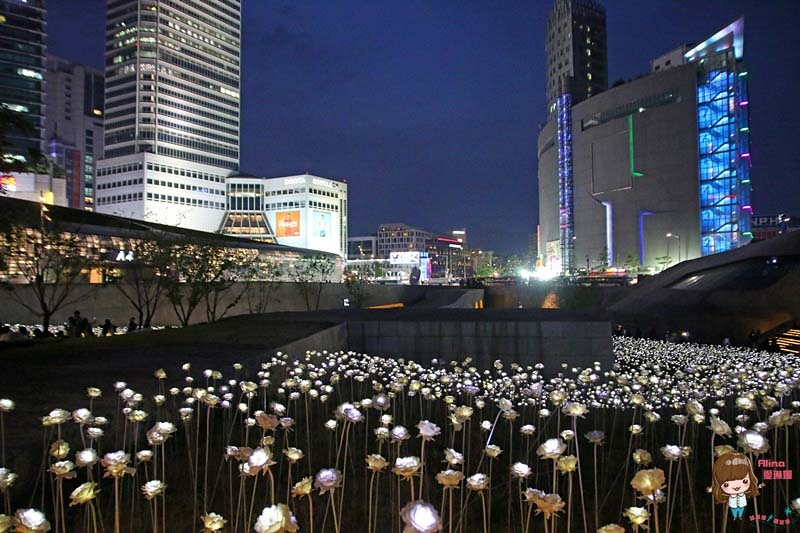 【首爾自由行】DDP 東大門設計廣場 浪漫LED玫瑰燈花海,熱門韓劇景點 @Alina 愛琳娜 嗑美食瘋旅遊