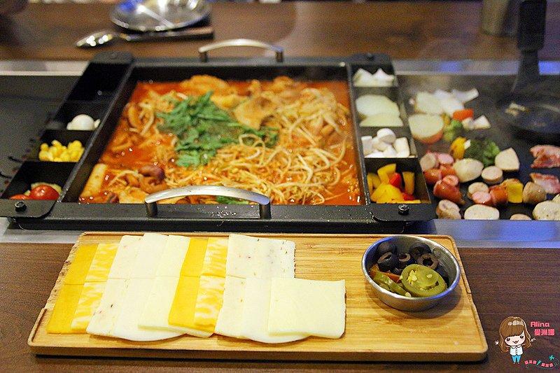 首爾弘大美食 made by O:Z 鐵板起司烤章魚豬五花