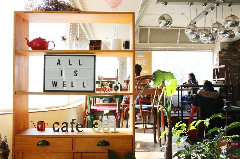 【釜山自由行】Cafe 301 카페 301 可愛咖啡館 慶星釜星大學站 草莓鬆餅 草莓雕花拿鐵