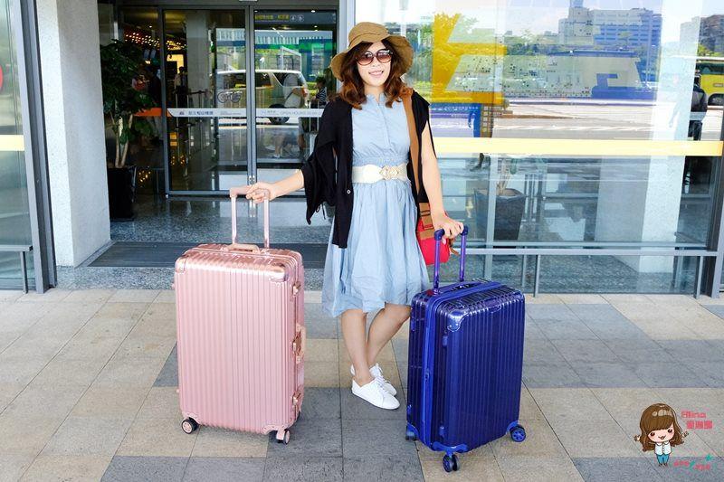 【旅遊好物】Bogazy行李箱 好拖行好收納 迷幻森林 玫瑰金鋁框箱 祕密花園 可加大拉鍊箱 @Alina 愛琳娜 嗑美食瘋旅遊