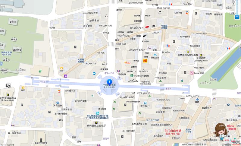 濟州中央地下街地圖