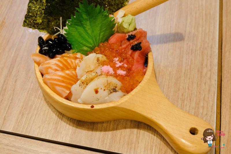 合掌村三色海鮮丼