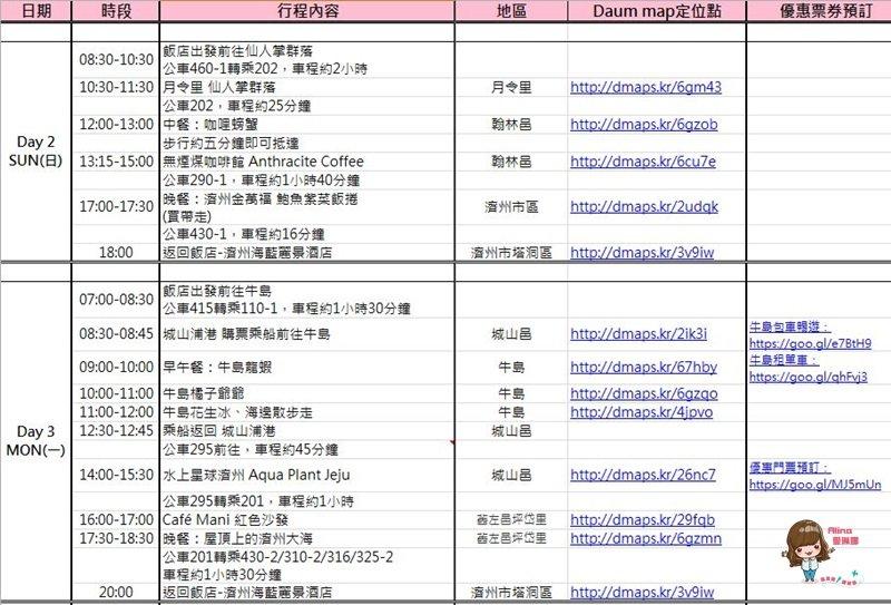 韓國 濟州島自由行 七天六夜 行程規劃表懶人包