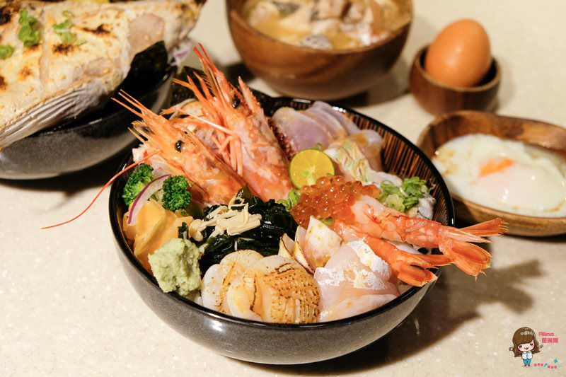 【食記】台北內湖 日向鮮漁場立喰屋 新鮮海味海鮮丼 價格實惠 立吞站食也可輕鬆坐吃 @Alina 愛琳娜 嗑美食瘋旅遊