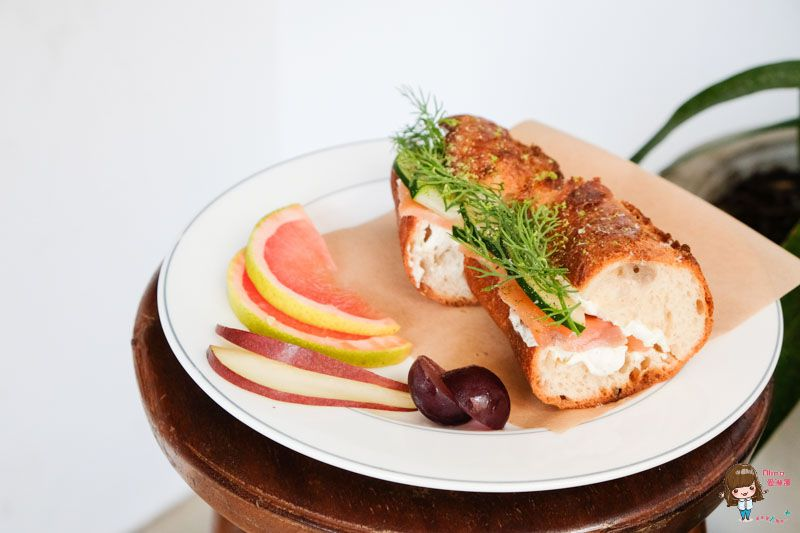 【食記】台北大安 波浮 Habu Juice 咖啡館 清爽燻鮭魚三明治 酸甜水果優格