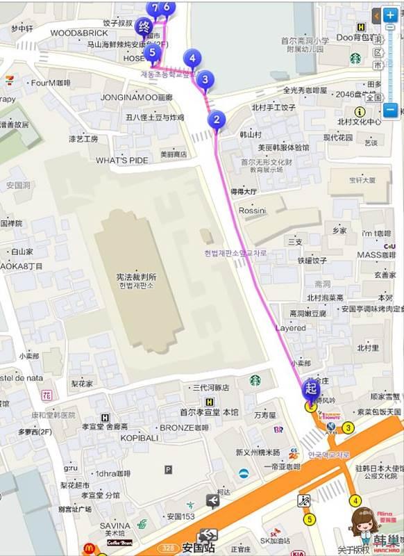 首爾韓服體驗 北村三清洞 Oneday Hanbok 地圖交通