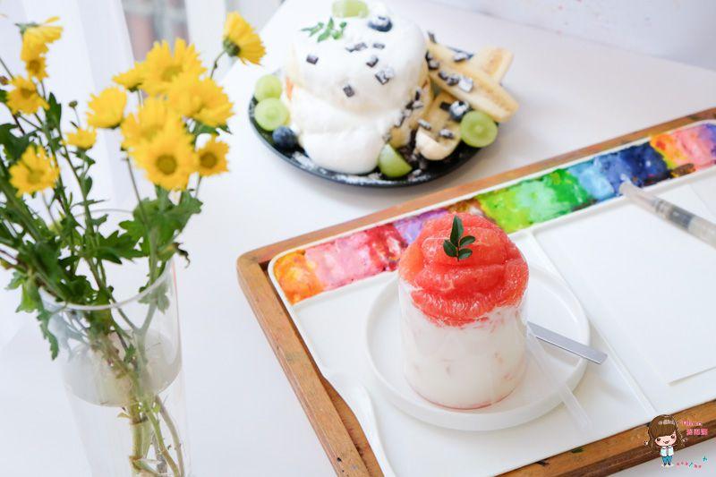 【首爾自由行】PEACH GRAY 水彩咖啡館 DIY畫水彩 夢幻文青的水果甜點下午茶 @Alina 愛琳娜 嗑美食瘋旅遊