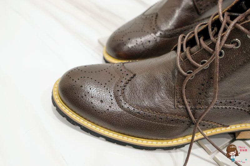AMANSHOES 風格男鞋 英倫德比真皮雕花靴
