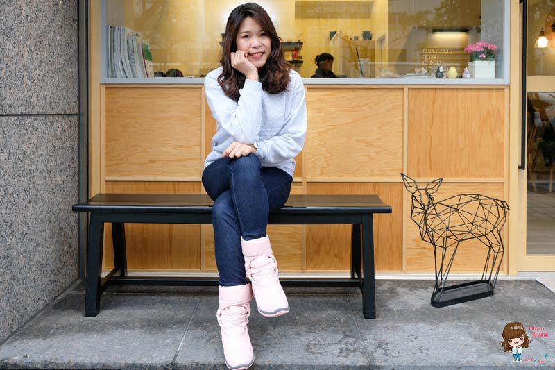粉紅色的防水太空靴 Bonbons 防潑水又保暖