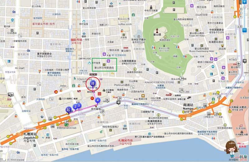 釜山BIFFE廣場 地圖交通路線