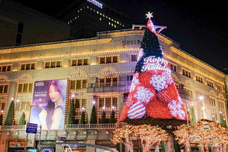明洞聖誕節點燈