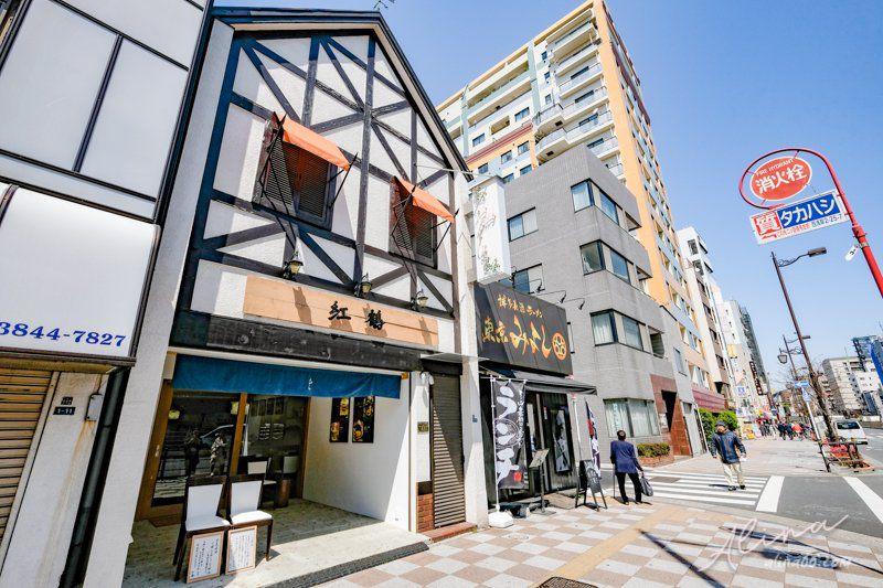 東京淺草 紅鶴 鬆餅店