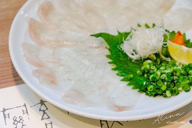 玄品河豚 河豚薄切生魚片
