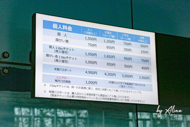 阿倍野展望台門票價格