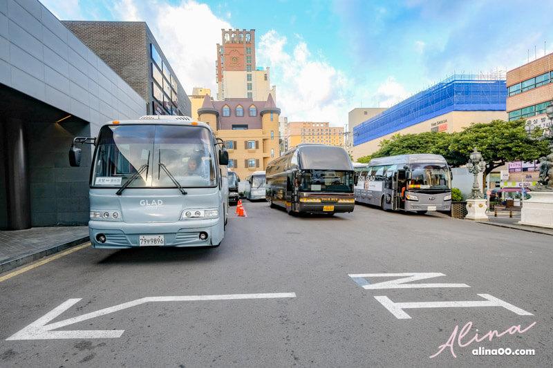 濟州島格蘭德飯店機場巴士接駁車