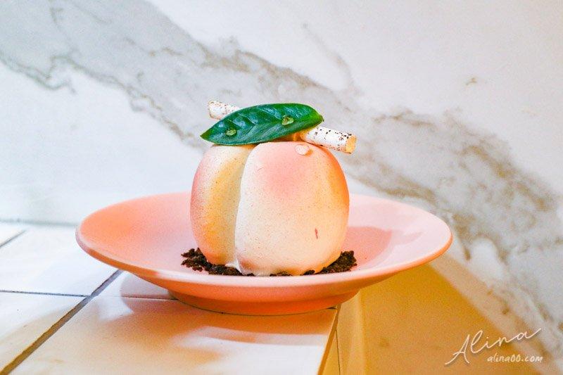 甜點研究所 水蜜桃蛋糕 弘大美食