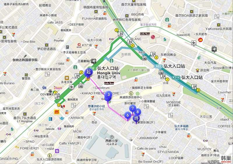 甜品研究所 弘大店 地圖交通路線디저트연구소 홍대점