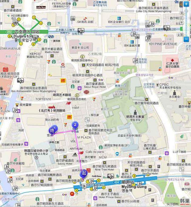 甜點研究所 明洞店 地圖交通路線디저트연구소 명동점