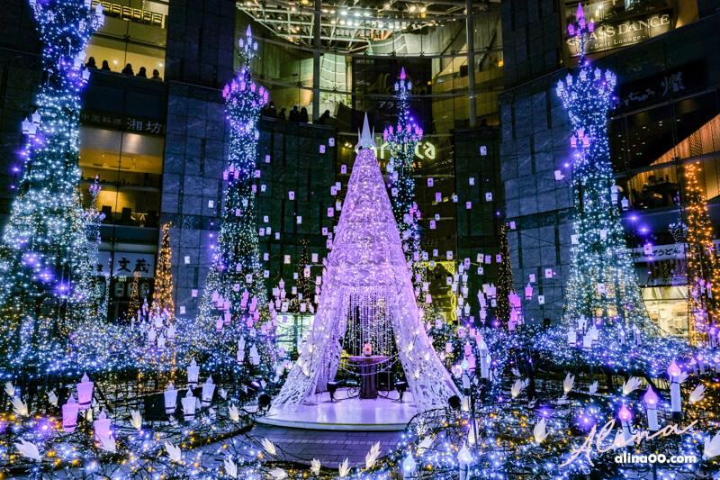 東京汐留聖誕節點燈表演