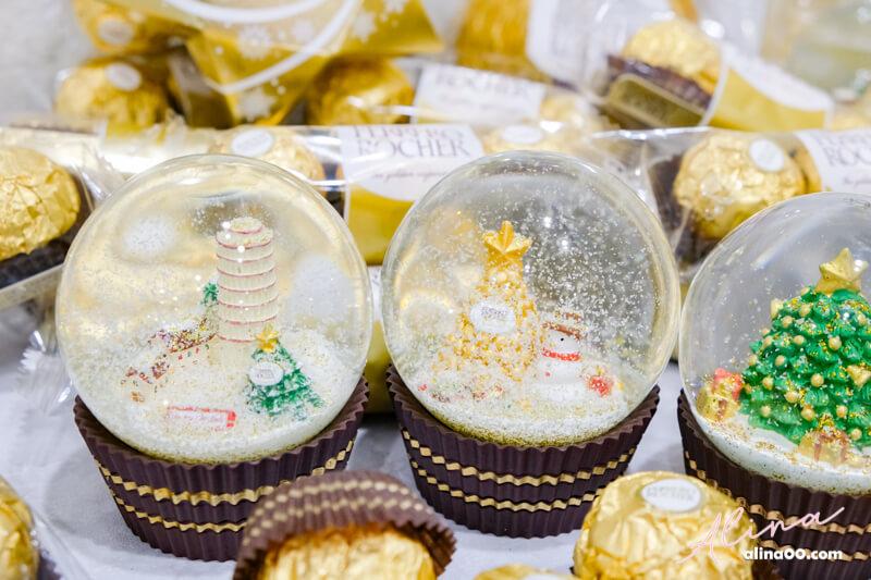 7-11金莎巧克力聖誕水晶球