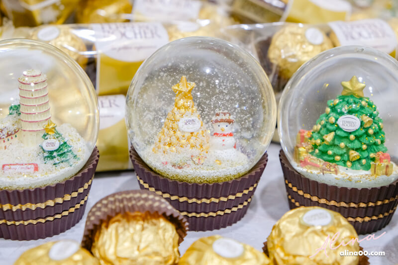 金莎聖誕水晶球 浪漫雪人金莎塔
