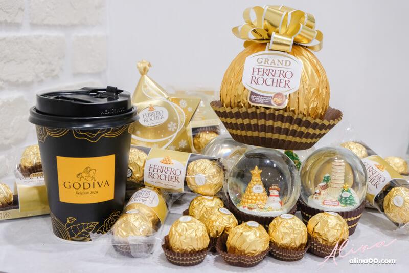 7-11 聖誕節限定商品 金莎水晶球 GODIVA 醇黑熱巧克力