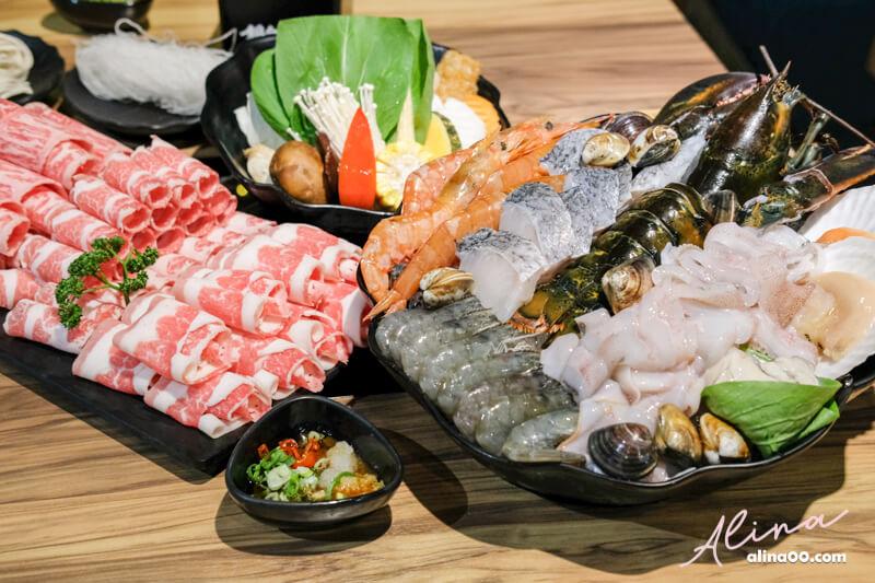 【食記】台北東區-鍋台銘-黑毛和牛x海鮮火鍋,海陸大餐豪華享受 @Alina 愛琳娜 嗑美食瘋旅遊