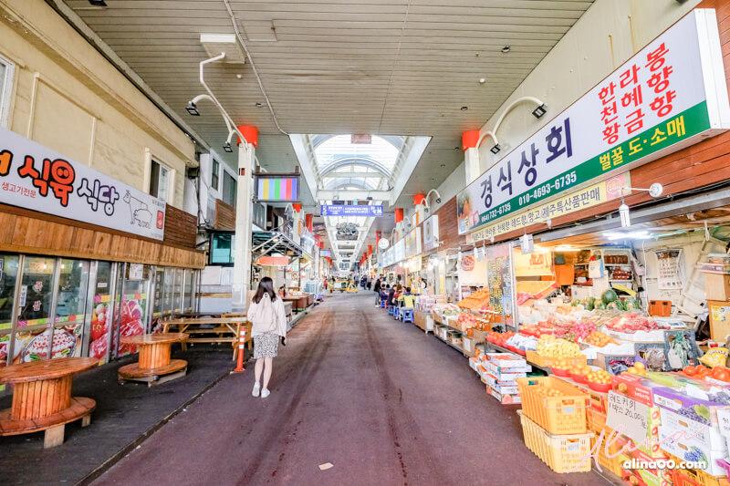 濟州島西歸浦每日偶來市場美食小吃