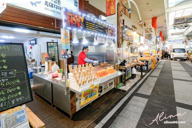 濟州島西歸浦每日偶來市場美食