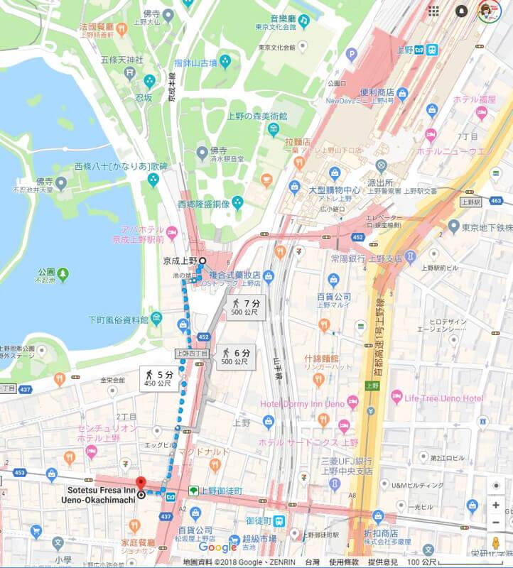 東京相鐵FRESA INN-上野御徒町交通