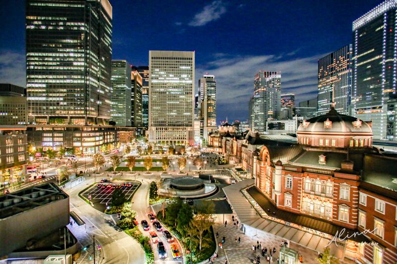 【東京景點】Top3 東京車站 夜景拍照推薦,浪漫都城之美 @Alina 愛琳娜 嗑美食瘋旅遊