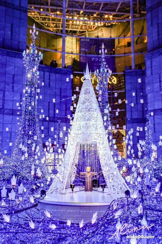 東京汐留聖誕點燈