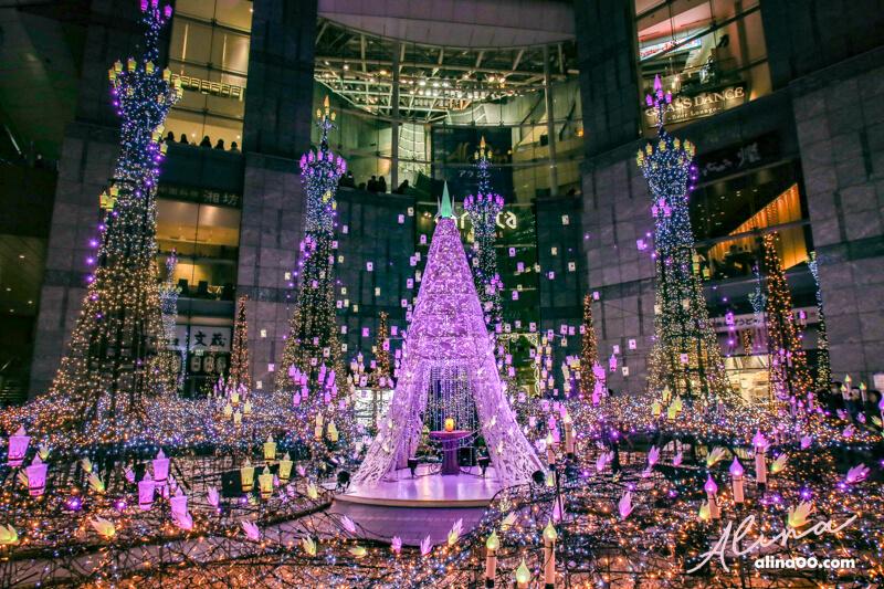 東京汐留 聖誕節點燈